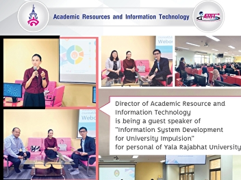 The director of Office of Academic Resources and Information Technology gave a lecture on