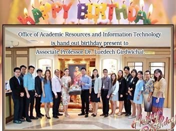 Giving away the Associate Professor Dr. Ruedet Kerdwichai on birthday.